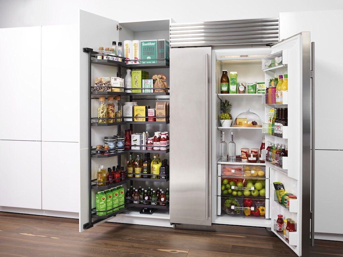 500 & 600 Larder Unit with Anthracite cranked pull out